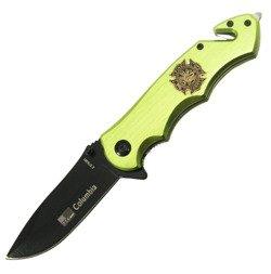 Nóż składany ratowniczy Columbia Olive Fire Dept
