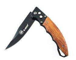 Nóż składany sprężynowy Kandar Black Wood